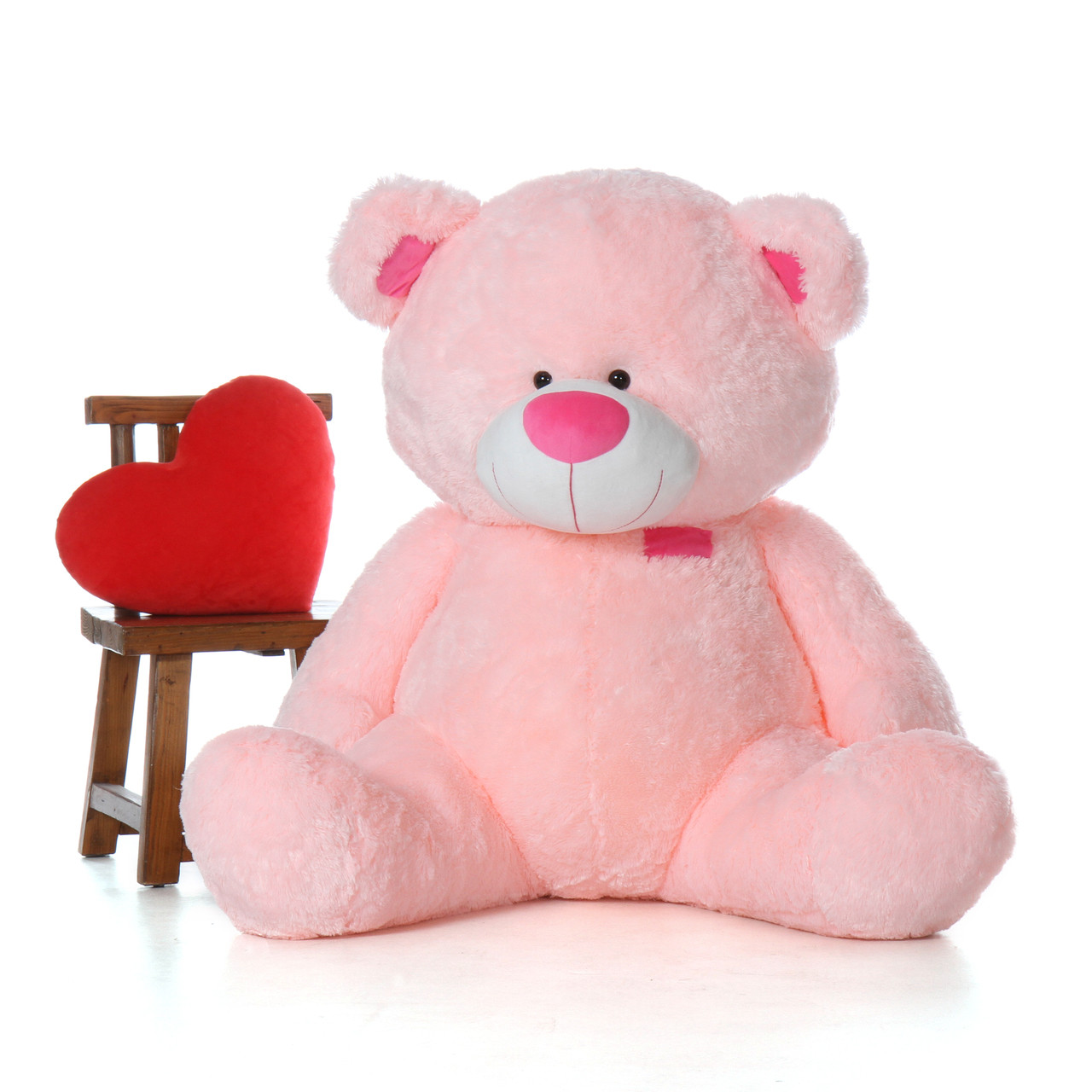 5 Foot Super Soft Giant Pink Teddy Bear
