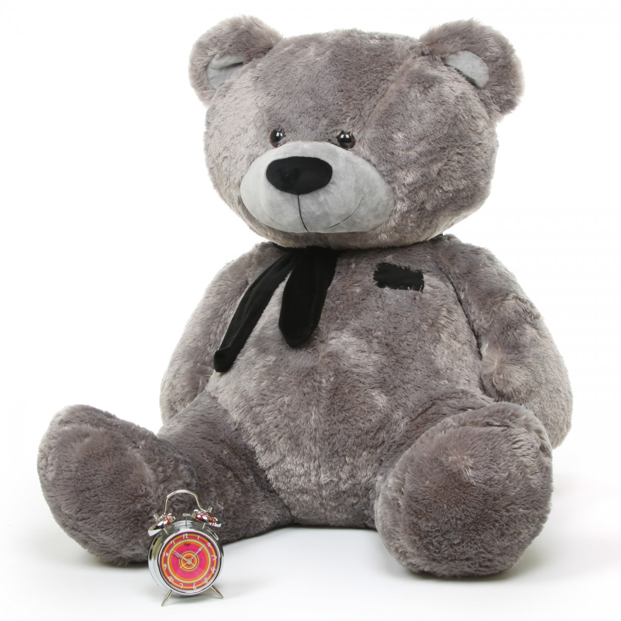 Huge 52in Silver Teddy Bear Diamond Shags