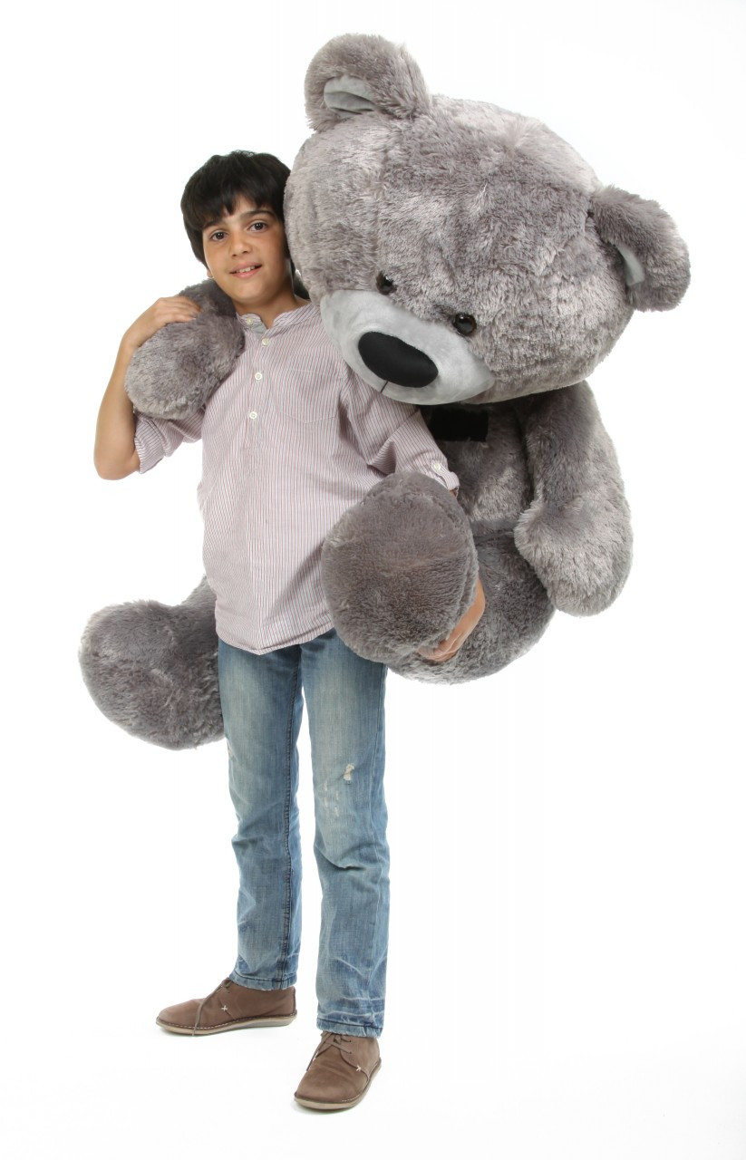 Diamond Shags Silver Teddy Bear with Model