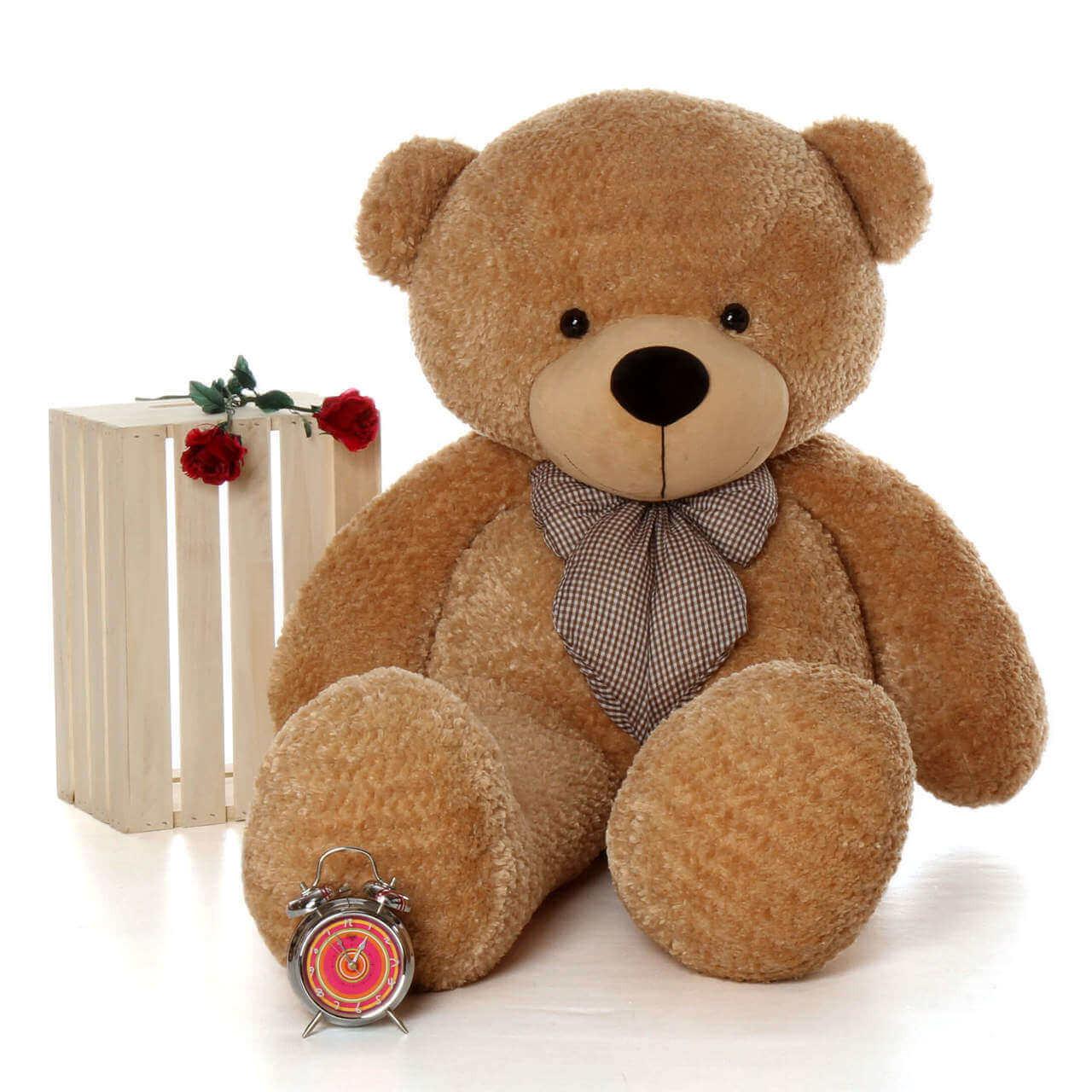 Life Size Amber Brown Teddy Bear Shaggy Cuddles 60in
