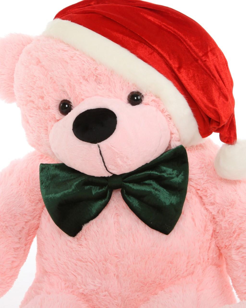 3ft Christmas Teddy Bear Pink Lady Cuddles