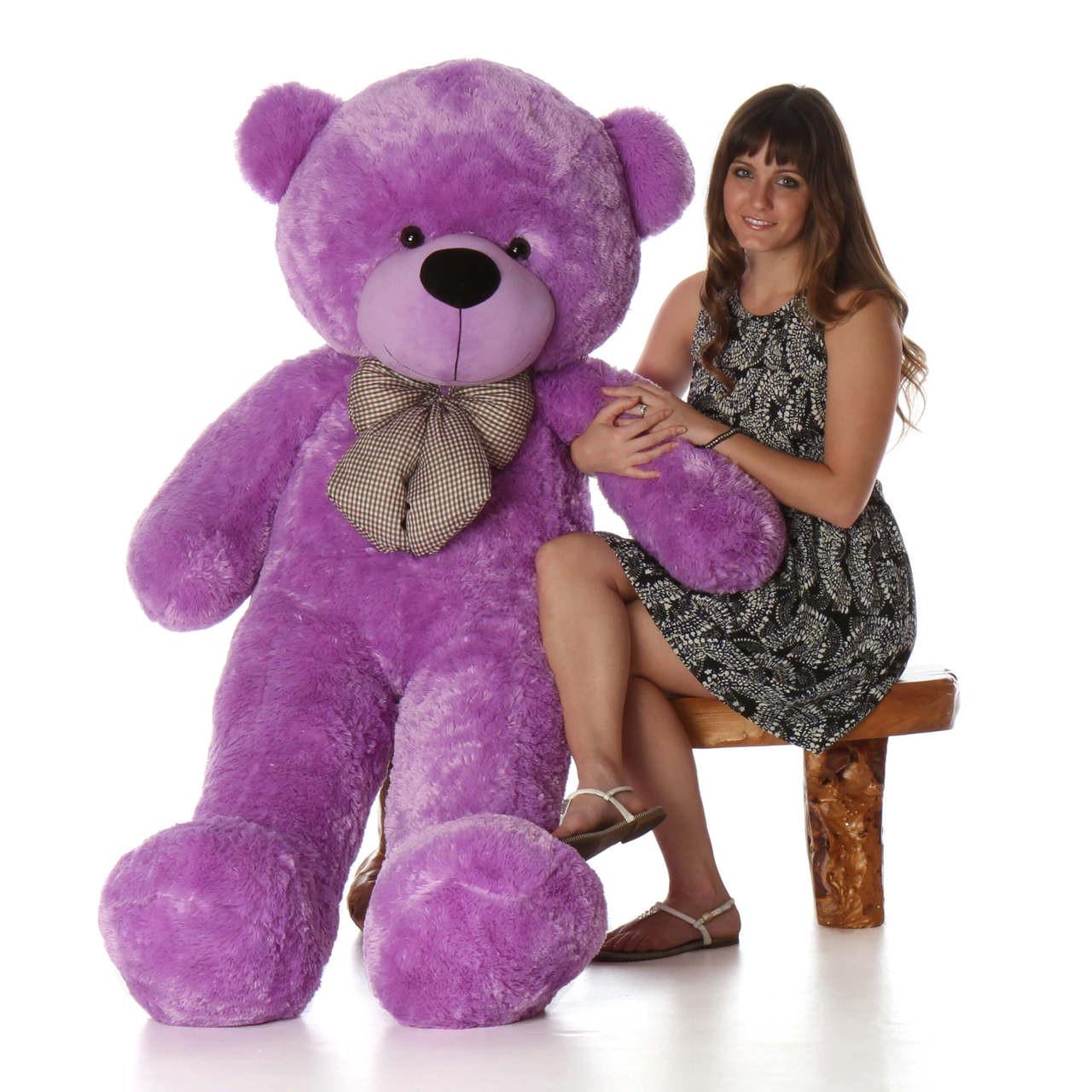 60in best selling Life Size Purple Teddy Bear DeeDee Cuddles