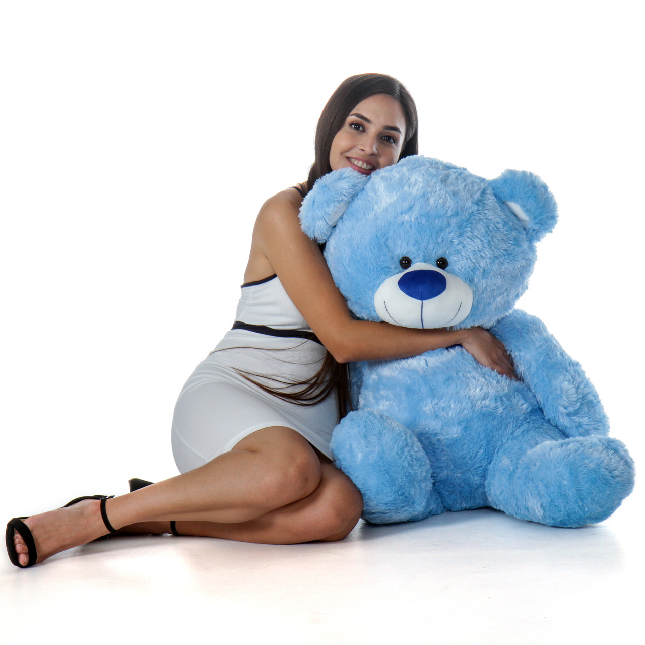 Super Soft and Cute Blue Shags Huge Teddy Bear