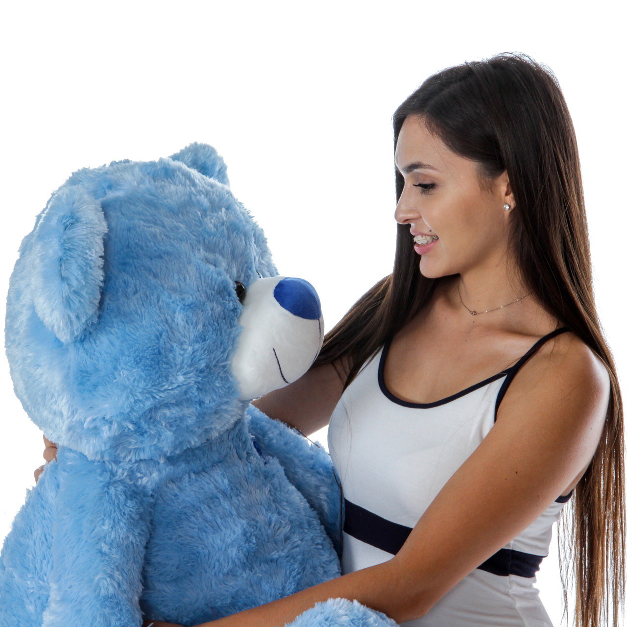 Beautiful Blue Sitting Position Teddy Bear Gift