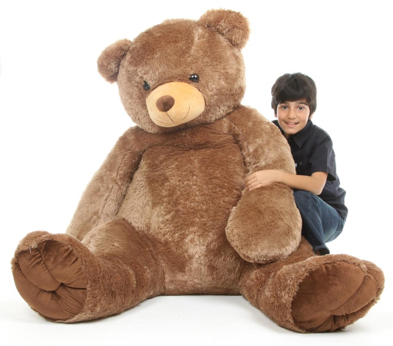 Sweetie Tubs Extra Cuddly Huge Mocha Brown Teddy Bear 65 in.