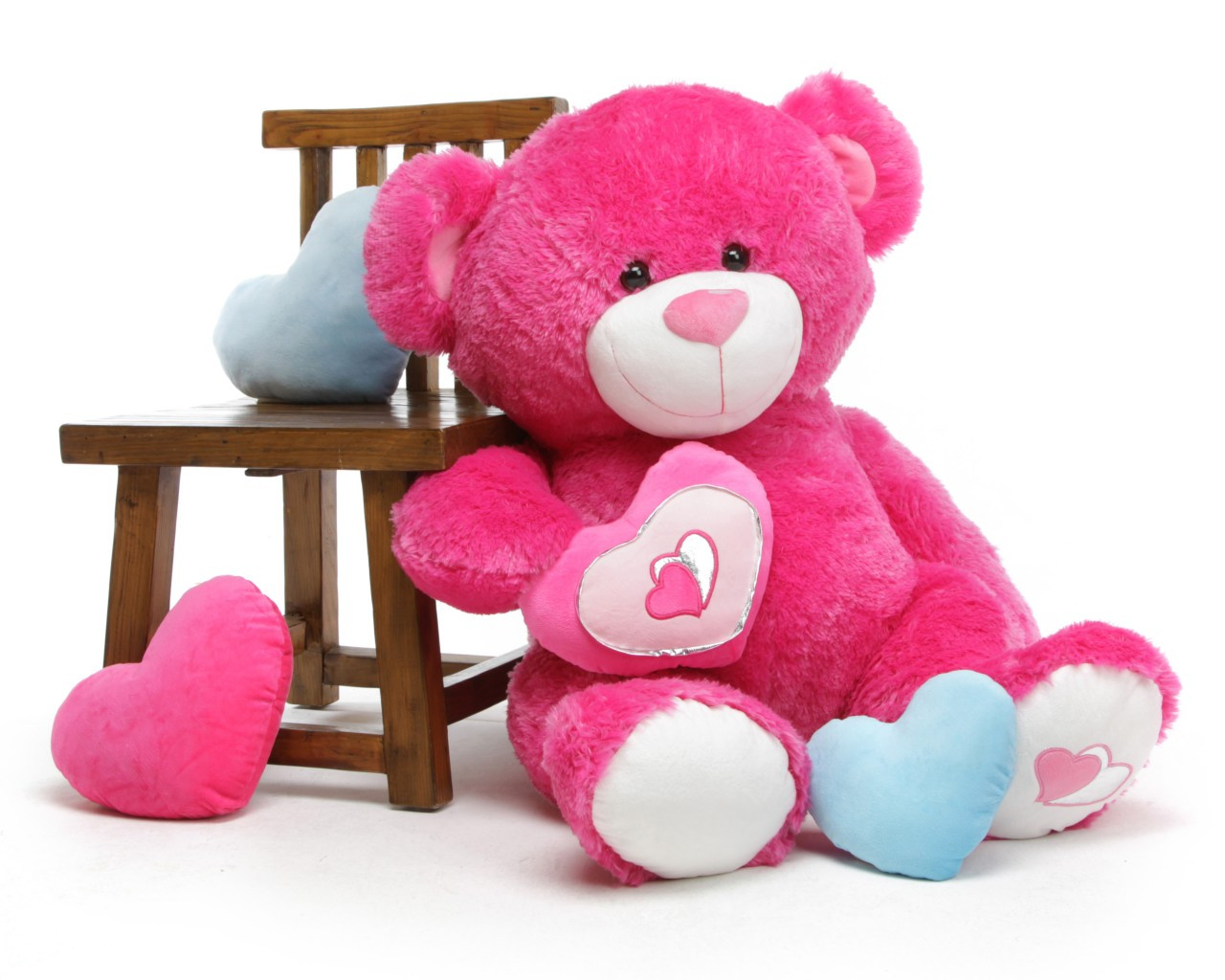 42in ChaCha Big Love Extra Large Hot Pink Teddy Bear