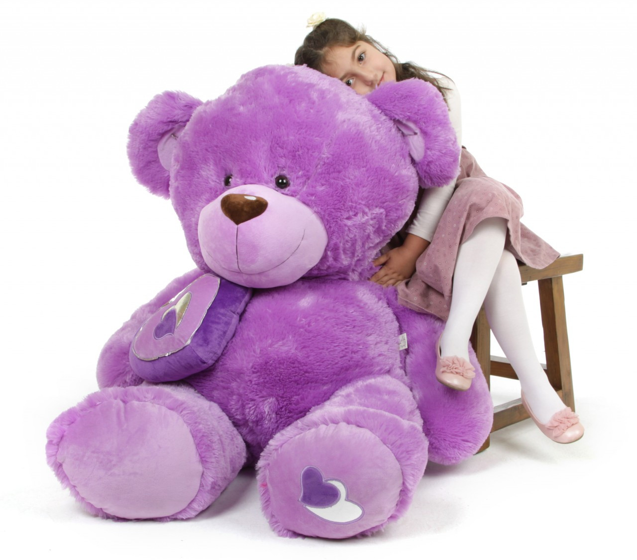 Sewsie Big Love Huge Huggable Lavender Teddy Bear 47 in
