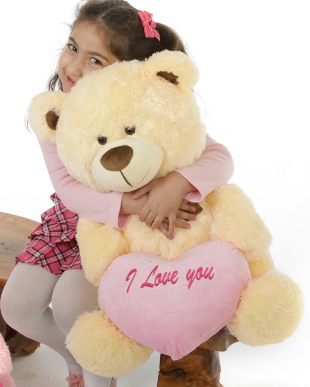 BooBoo Shags Cream 27in He Loves Me! Bear Hug Care Package