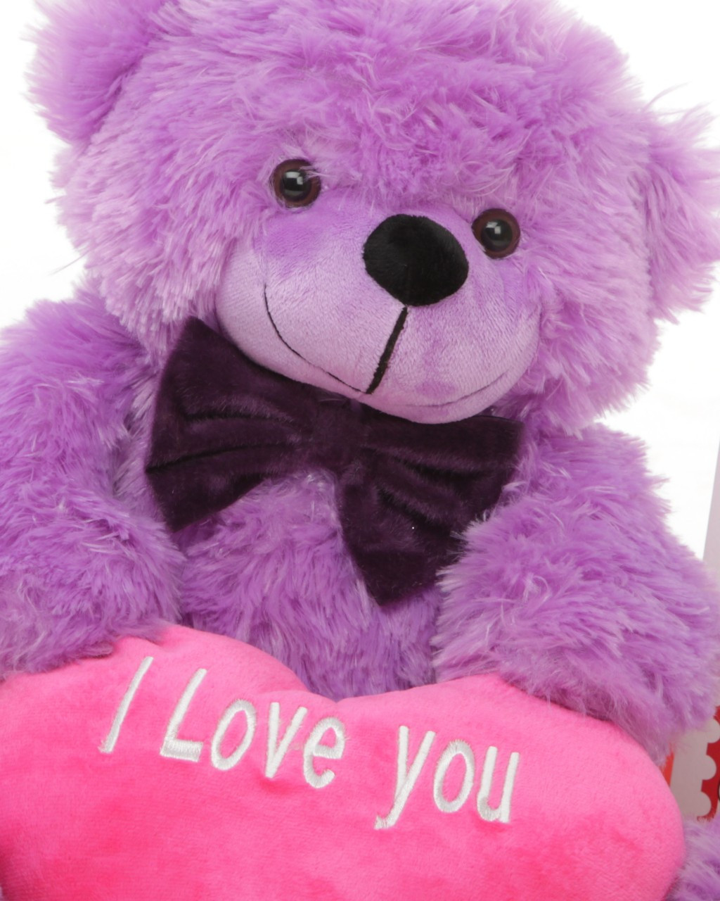DeeDee Cuddles 18in Teddy Bear with Hot Pink I Love You Card