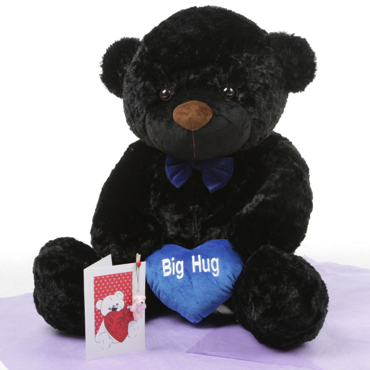 Oversized Black Juju Cuddles with Blue Heart Package