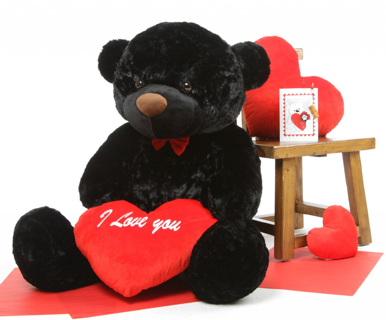 48in Juju Cuddles with I Love You Red Heart Package