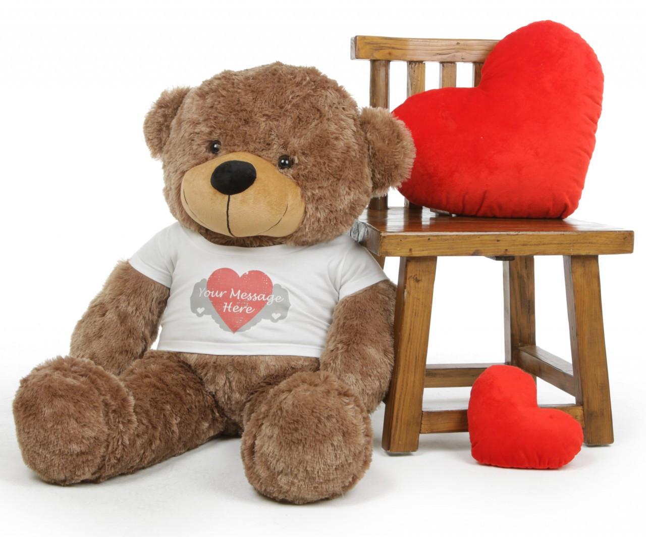 5f08e8e6fce Personalized Teddy Bear with Heart Print Tshirt Sunny Cuddles Mocha 38 inch 1  97750.1354582384.jpg c 2 imbypass on