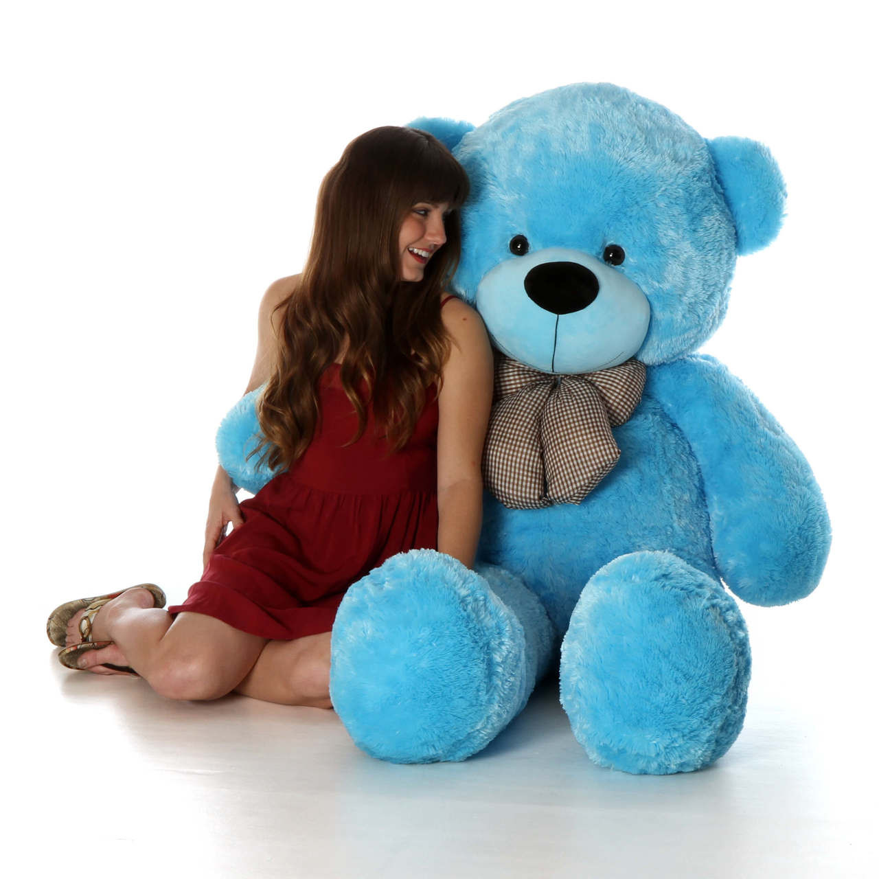 Life Size Blue huggableTeddy Bear Happy Cuddles 5ft