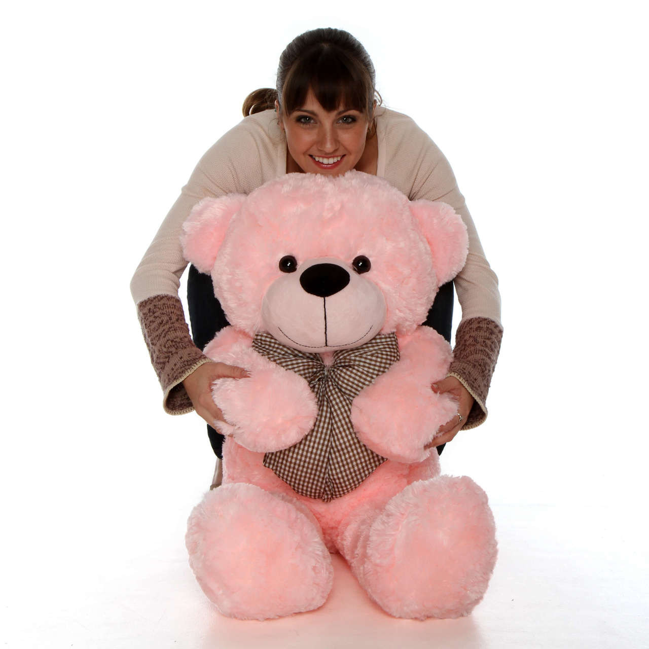 Lady Cuddles - 38 - Super Soft & Huggable, Pink Plush Bear