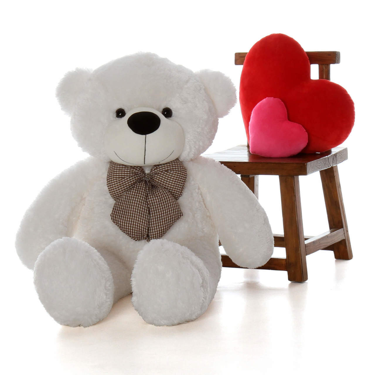 4ft Life Size gift Teddy Bear white Coco Cuddles soft