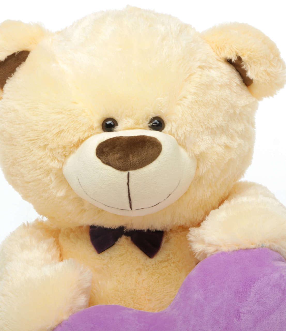 35in BooBoo L Shags Vanilla Teddy Bear with I Love You Heart