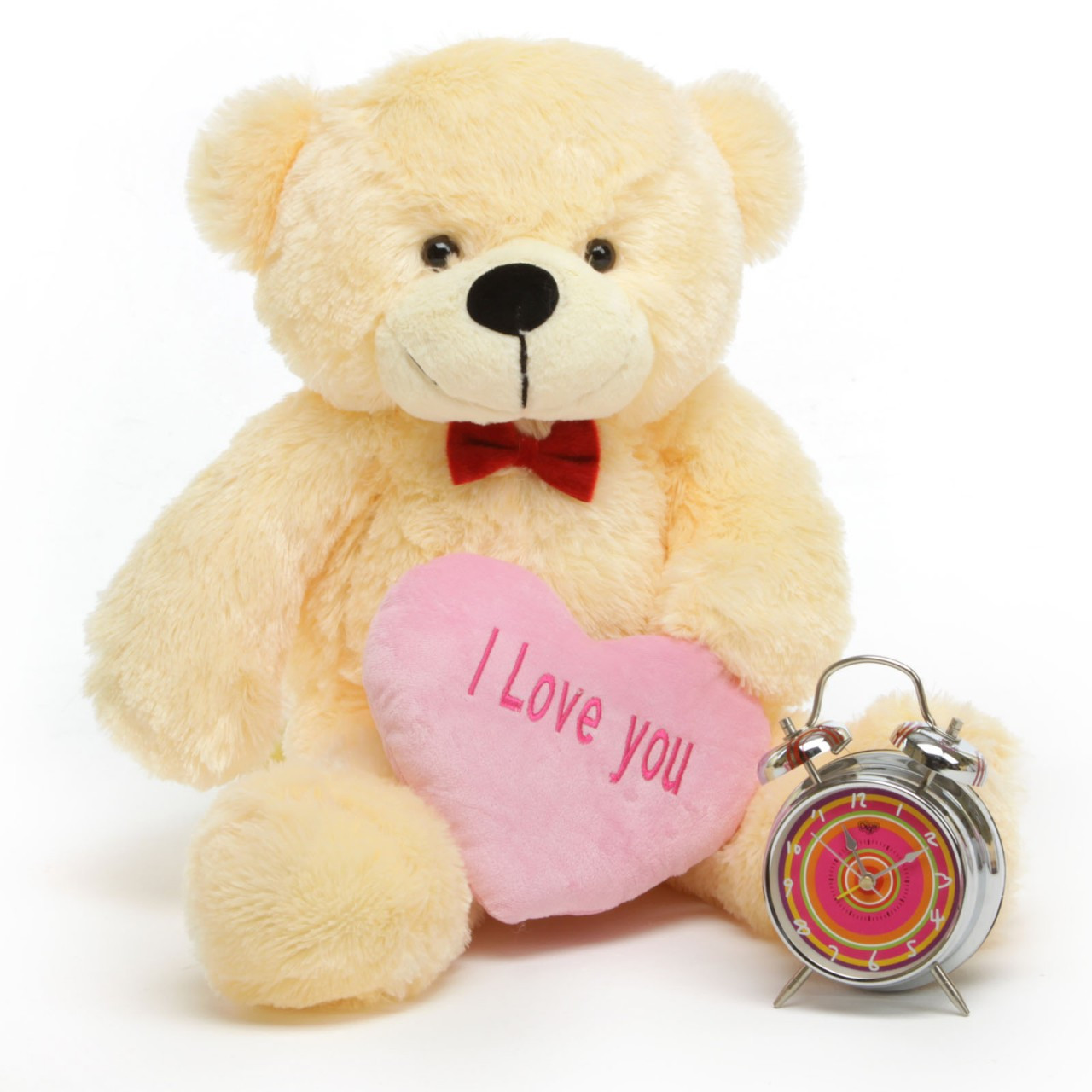 I Love You Heart Teddy Bear Package featuring Cozy Cuddles