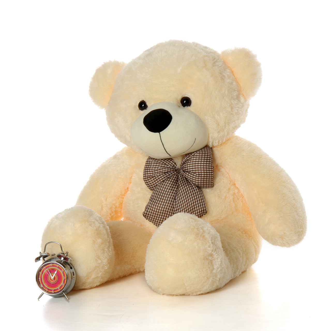 Adorable Huge Cozy Cuddles cream teddy bear 4 Foot