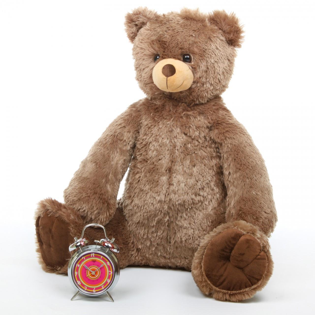 32in Huge Sweetie Tubs Mocha Teddy Bear