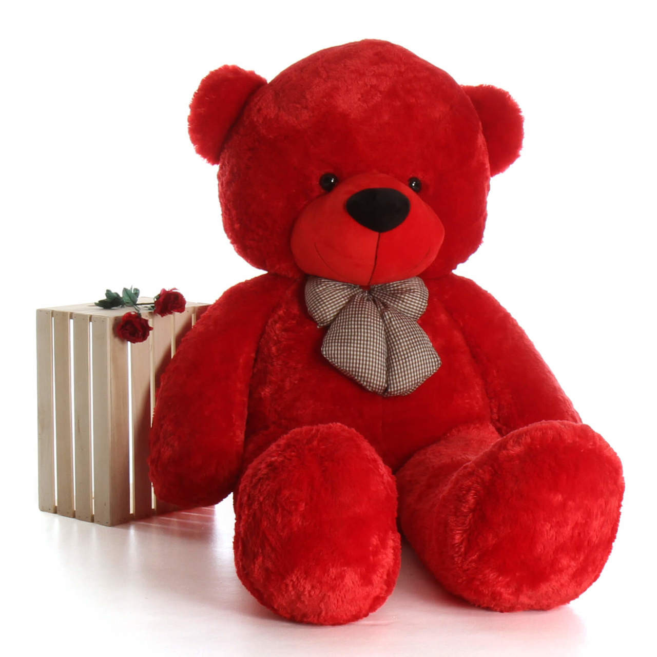 Humongous life size 72in red teddy bear Bitsy Cuddles perfect Christmas or Valentines teddy bear