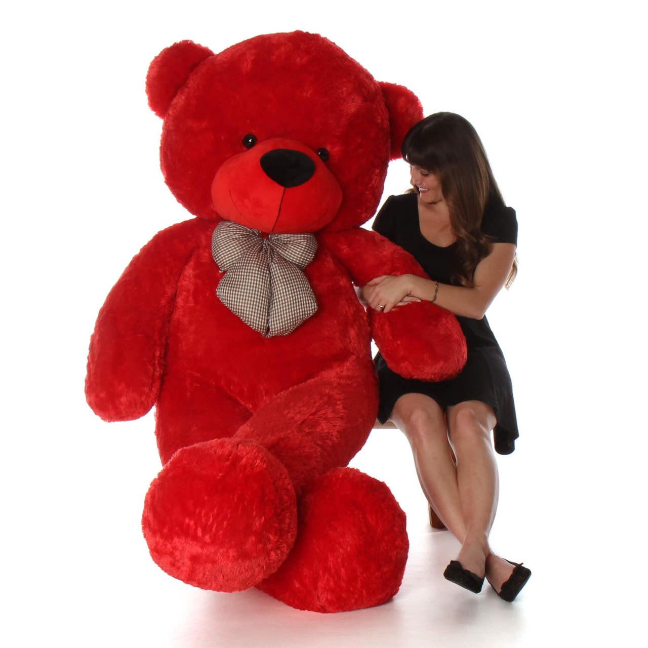 72in Bitsy Cuddles Red Teddy Bear