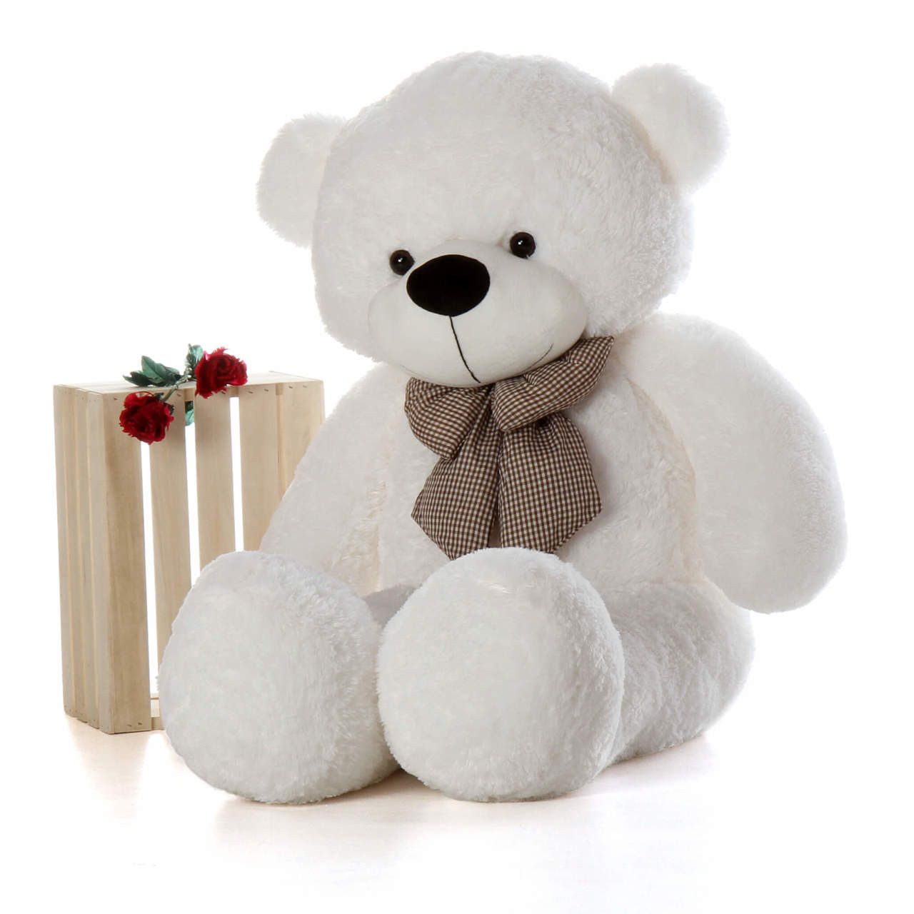 Life Size White Teddy Bear Coco Cuddles 60in