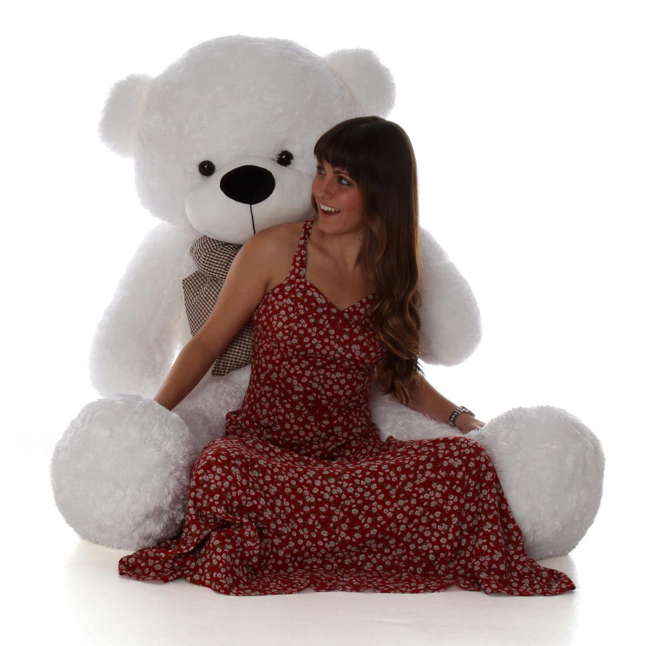 60in Coco Cuddles huge white teddy bear