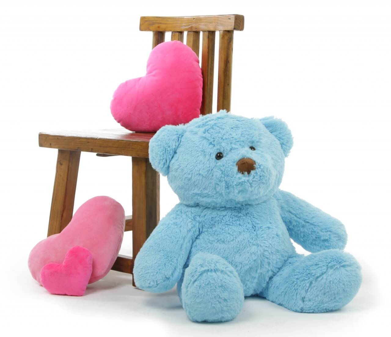 2ft Sky Blue Teddy Bear Sammy Chubs