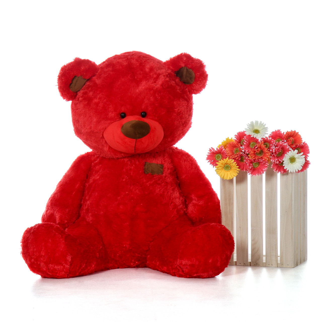 Randy Shags Chubby and Adorable Bright Red Teddy Bear 45in