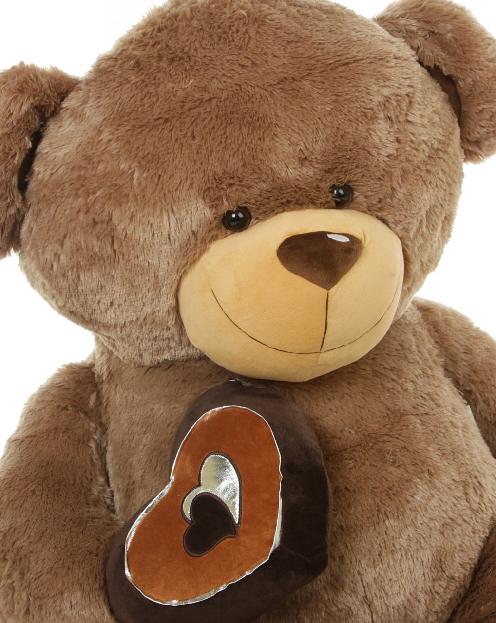 Soft brown valentine teddy bears by Giant Teddy