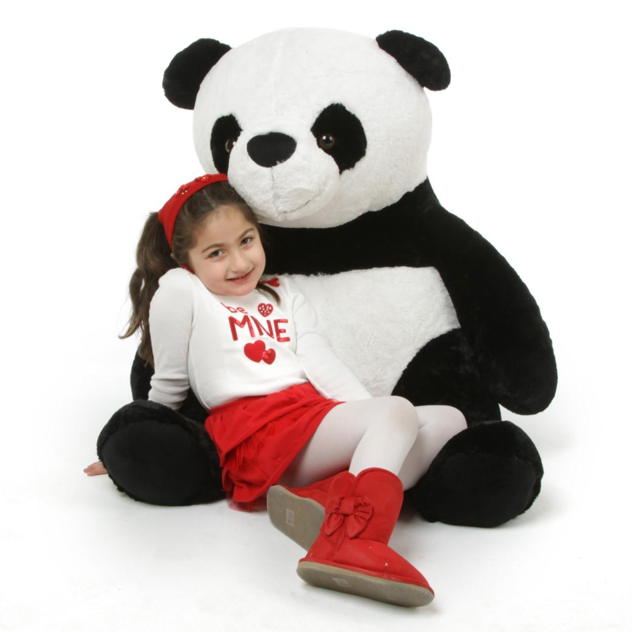 Papa Xin Giant Black And White Stuffed Panda Teddy Bear 42in