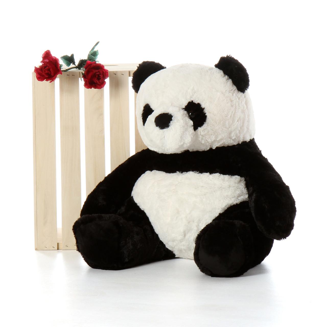 24 inch Sitting Panda Bear by Giant Teddy Brand