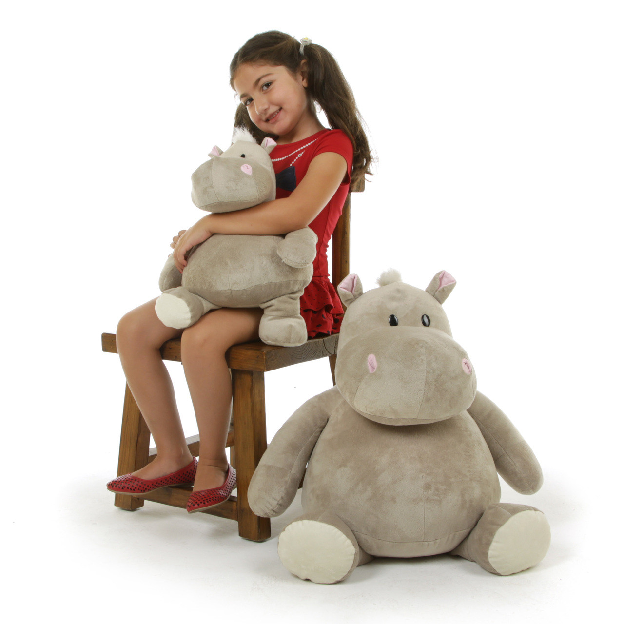 Huge Hippo Stuffed Animal by Giant Teddy