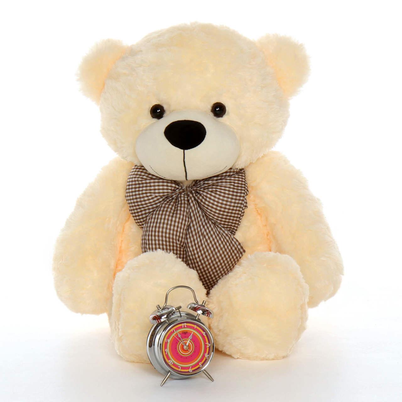 Huge Cream best gift Teddy Bear Cozy Cuddles 38in