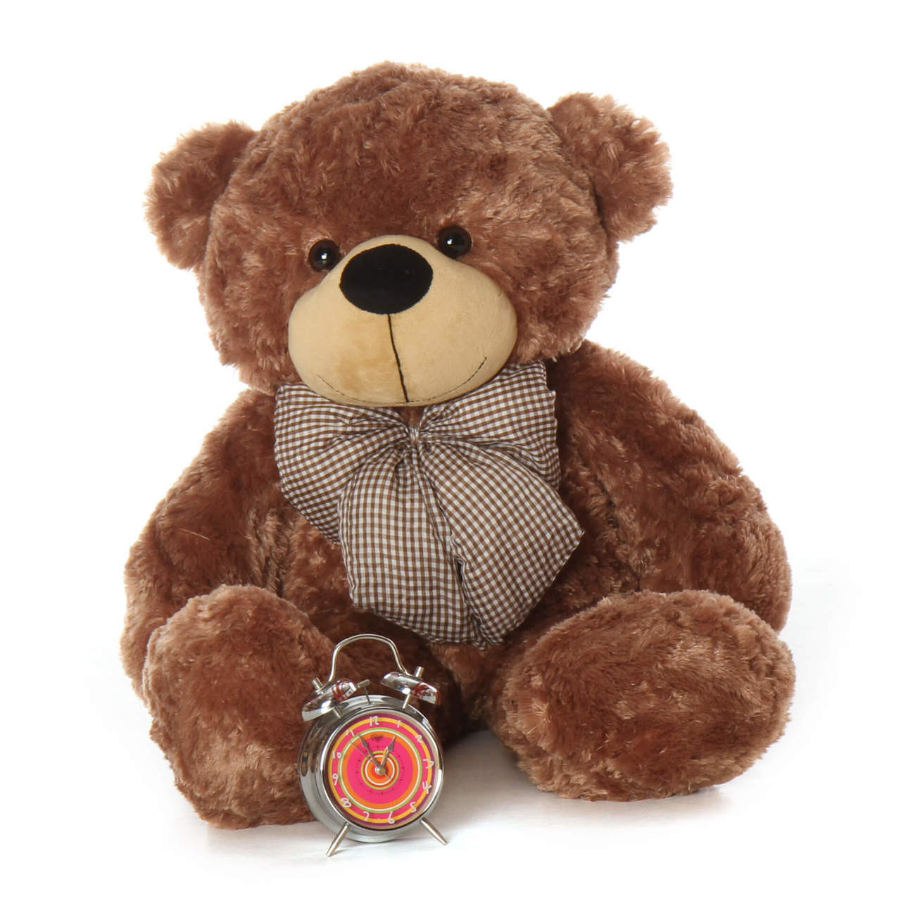 Over 3ft Huge Teddy Bear Snuggly Soft Mocha Brown Fur Sunny Cuddles gift of a lifetime