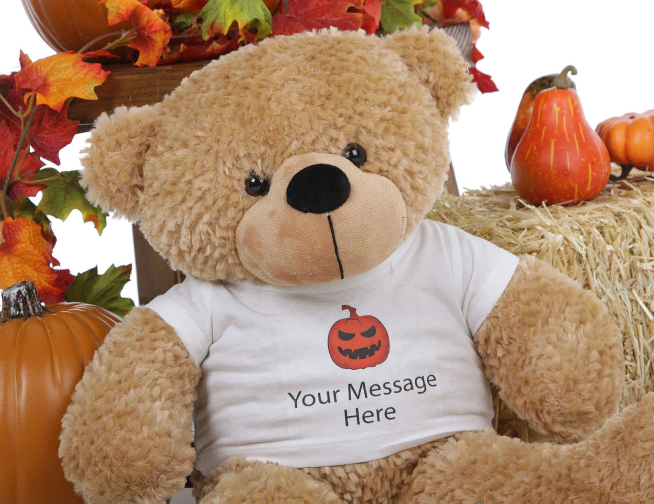 2 Foot Halloween Amber Giant Teddy Bear w/T-shirt