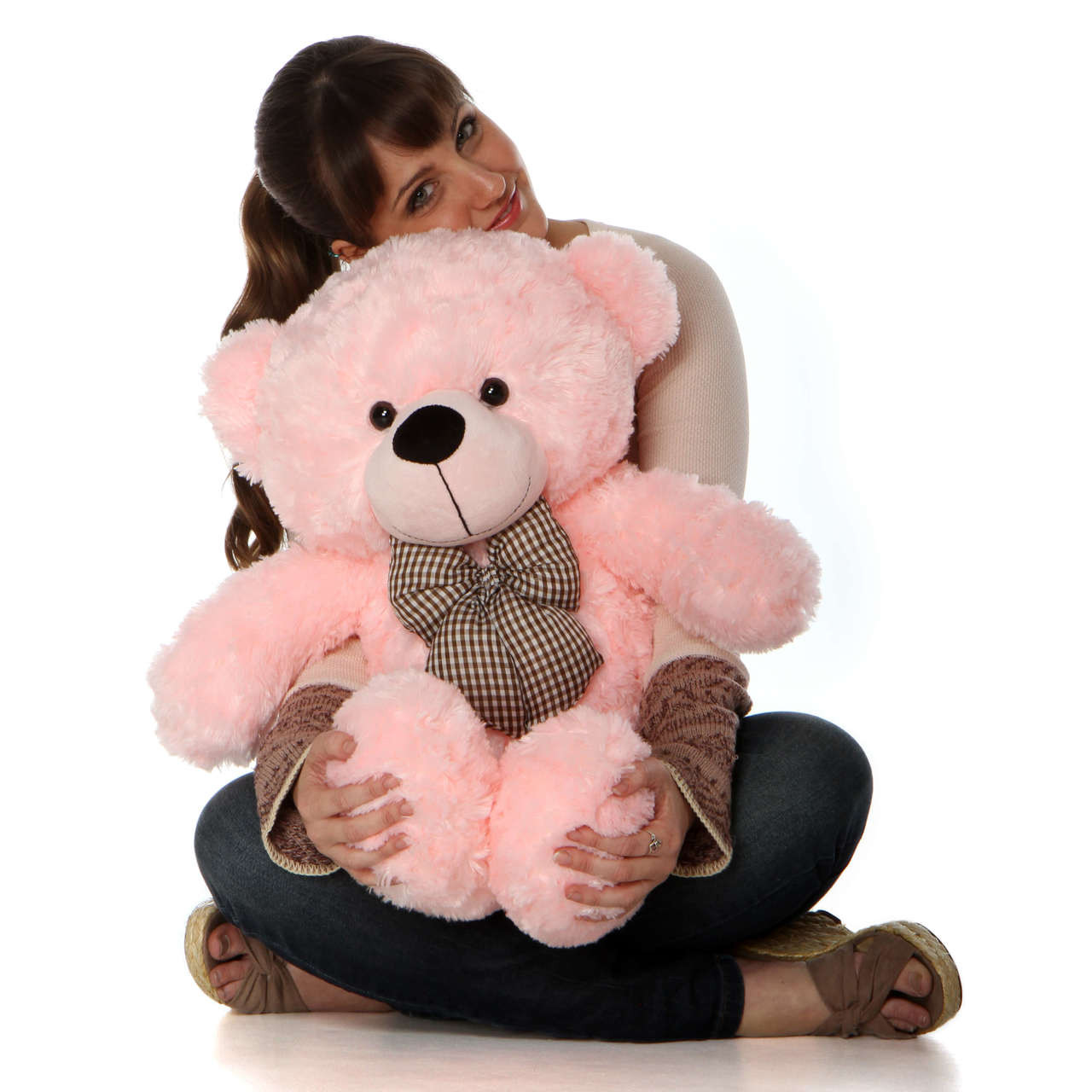 30in Lady Cuddles Super Soft Huggable, Pink Giant Teddy Plush Bear