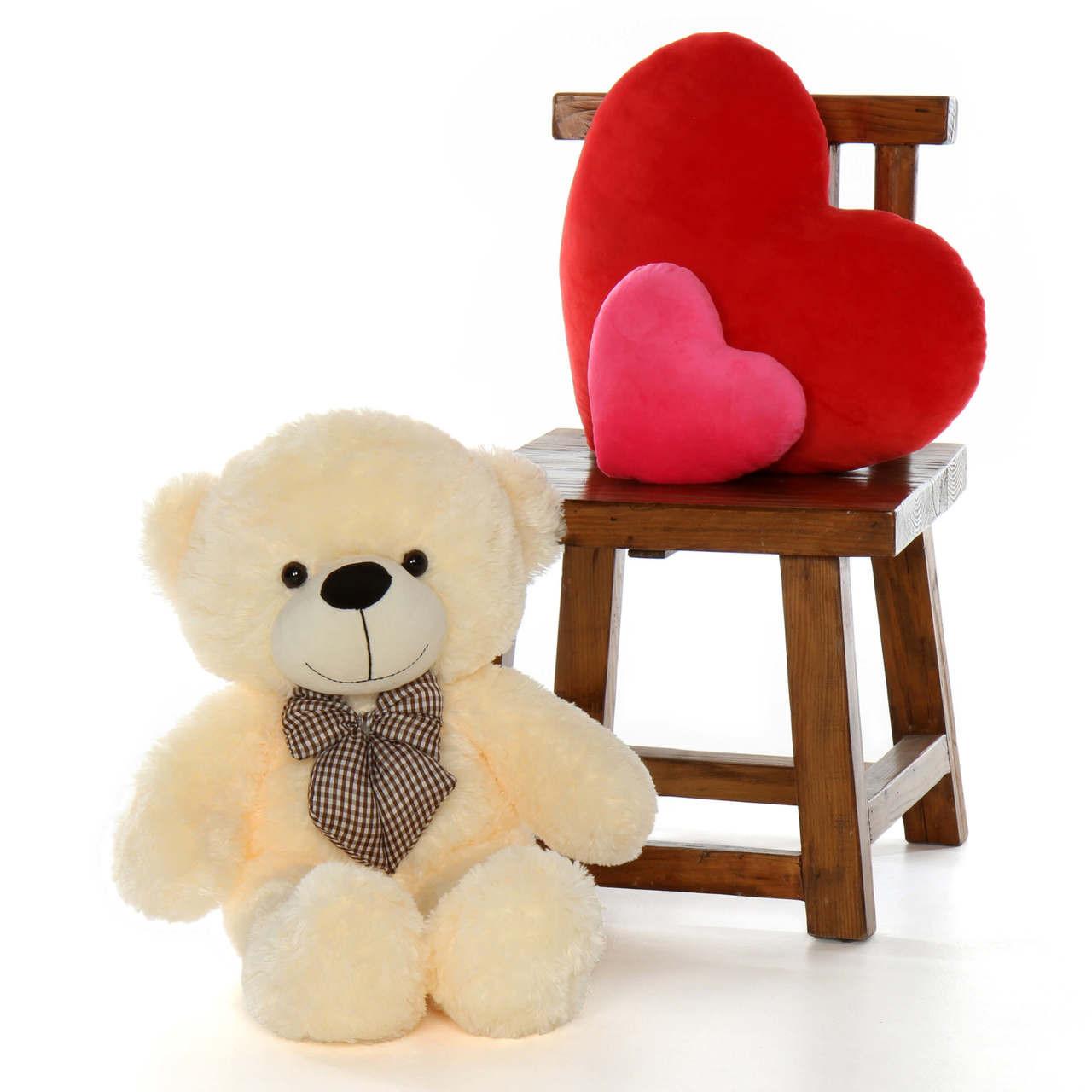 big teddy bear huge huggable super soft fur Cozy plush Cuddles from Giant Teddy