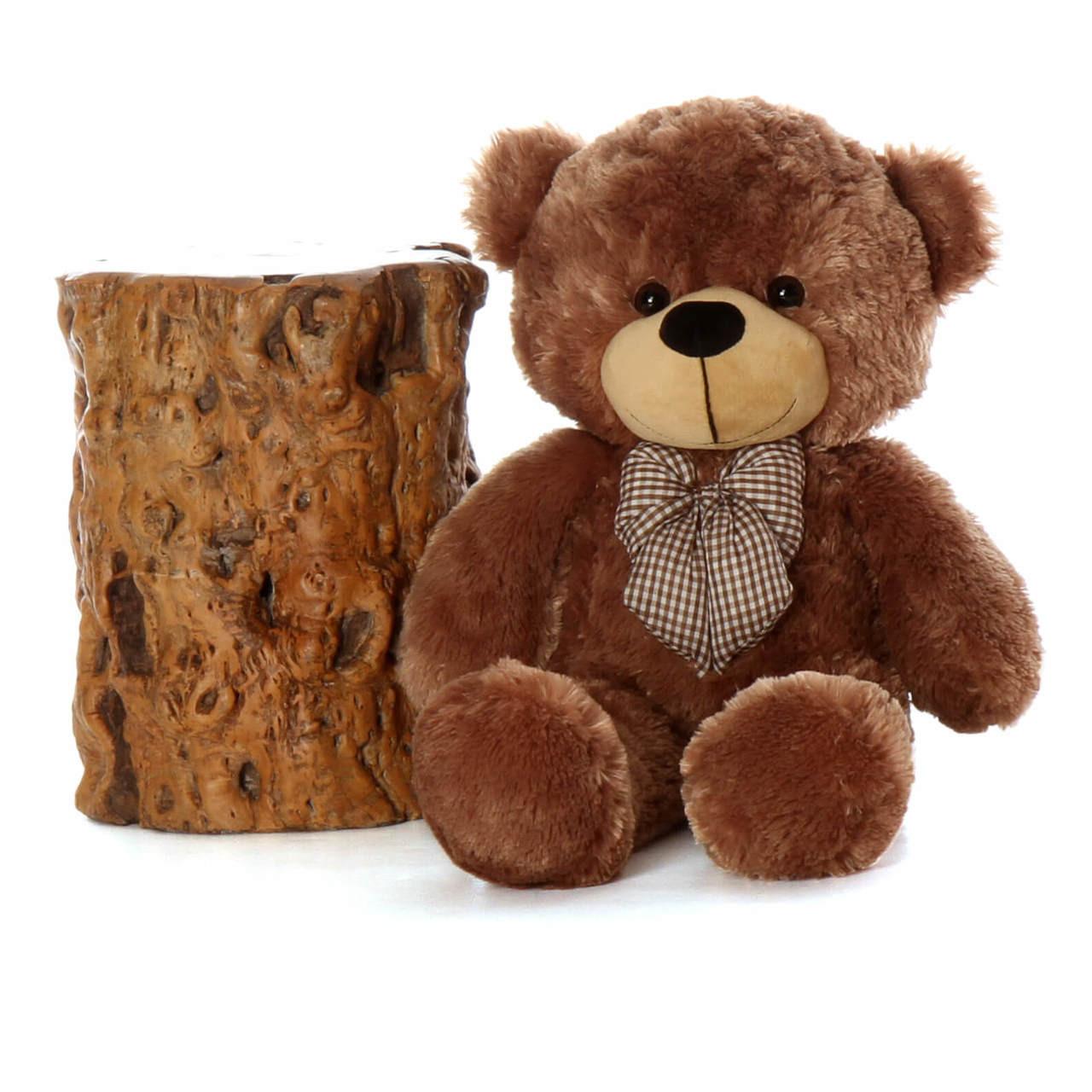 30in Giant Teddy Bear Sunny Cuddles Soft Cuddly Mocha Brown Fur