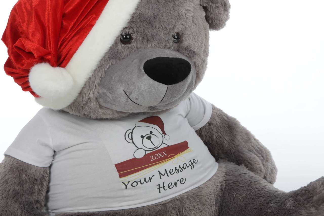 4 ft Teddy Bear Tshirt Christmas Gift