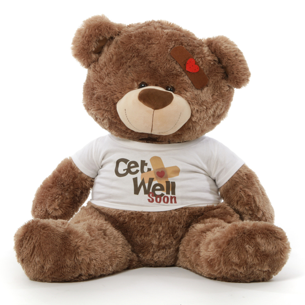 c554e226950 Adorable Big Get Well Soon Teddy Bears in 3 colors with custom shirt ...