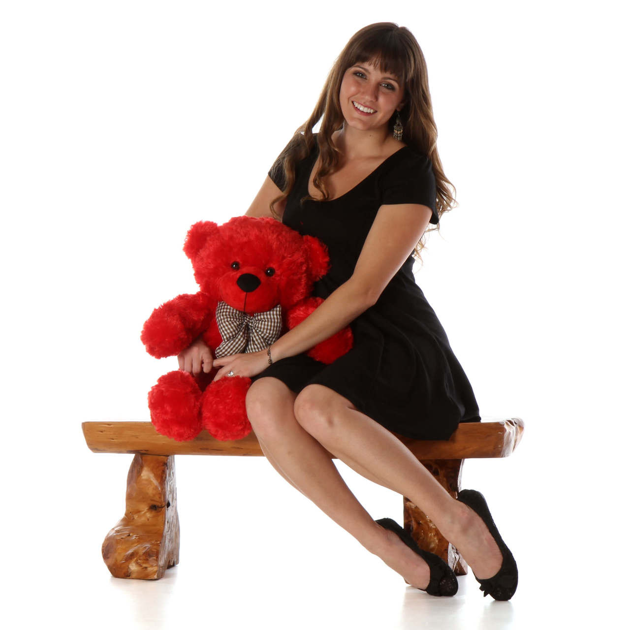 30in Red Cuddles teddy bear unbelievably soft and adorable