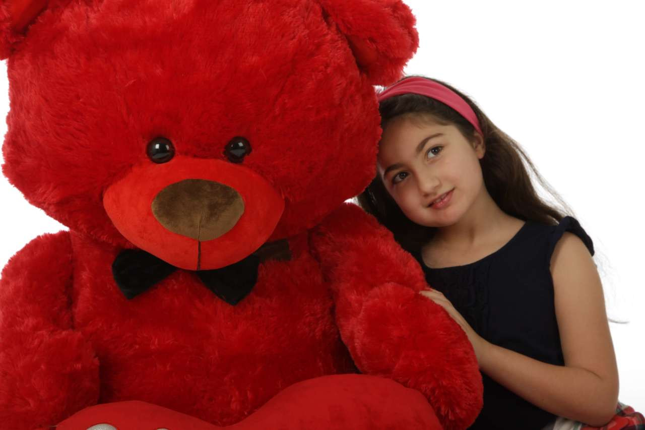Randy Shags is a huge 52in red teddy bear for Valentine's Day!