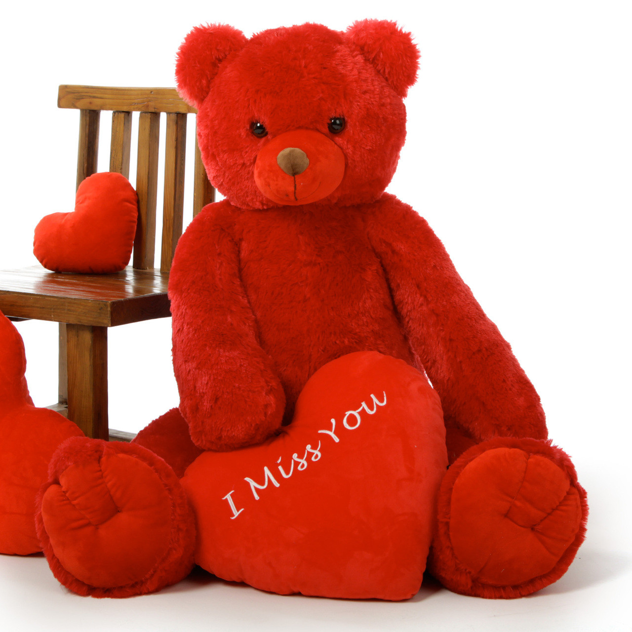 Huge Red Valentine S Day Teddy Bears 42in With Plush Heart Message