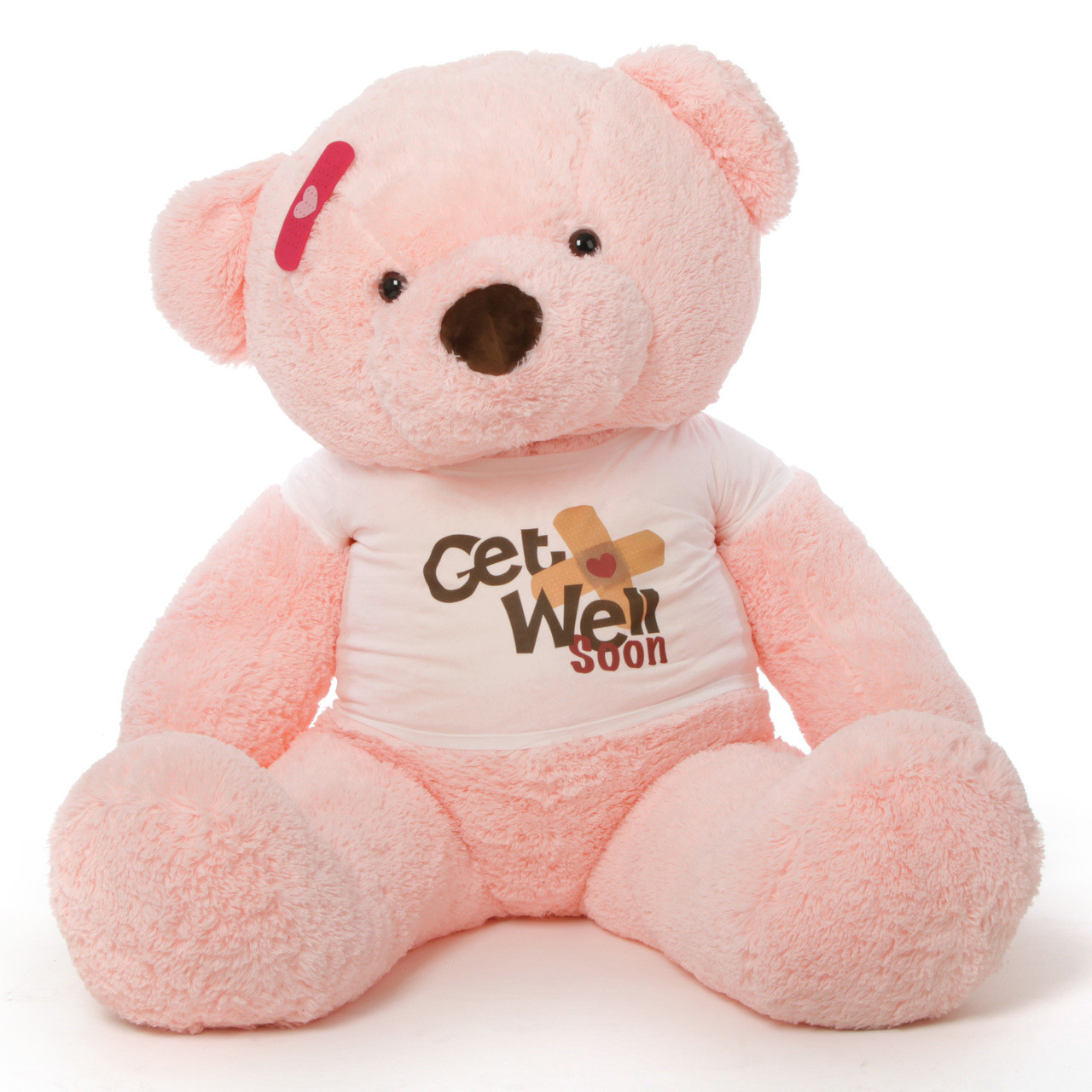 5ft Get Well Soon Pink Teddy Bear, Gigi Chubs