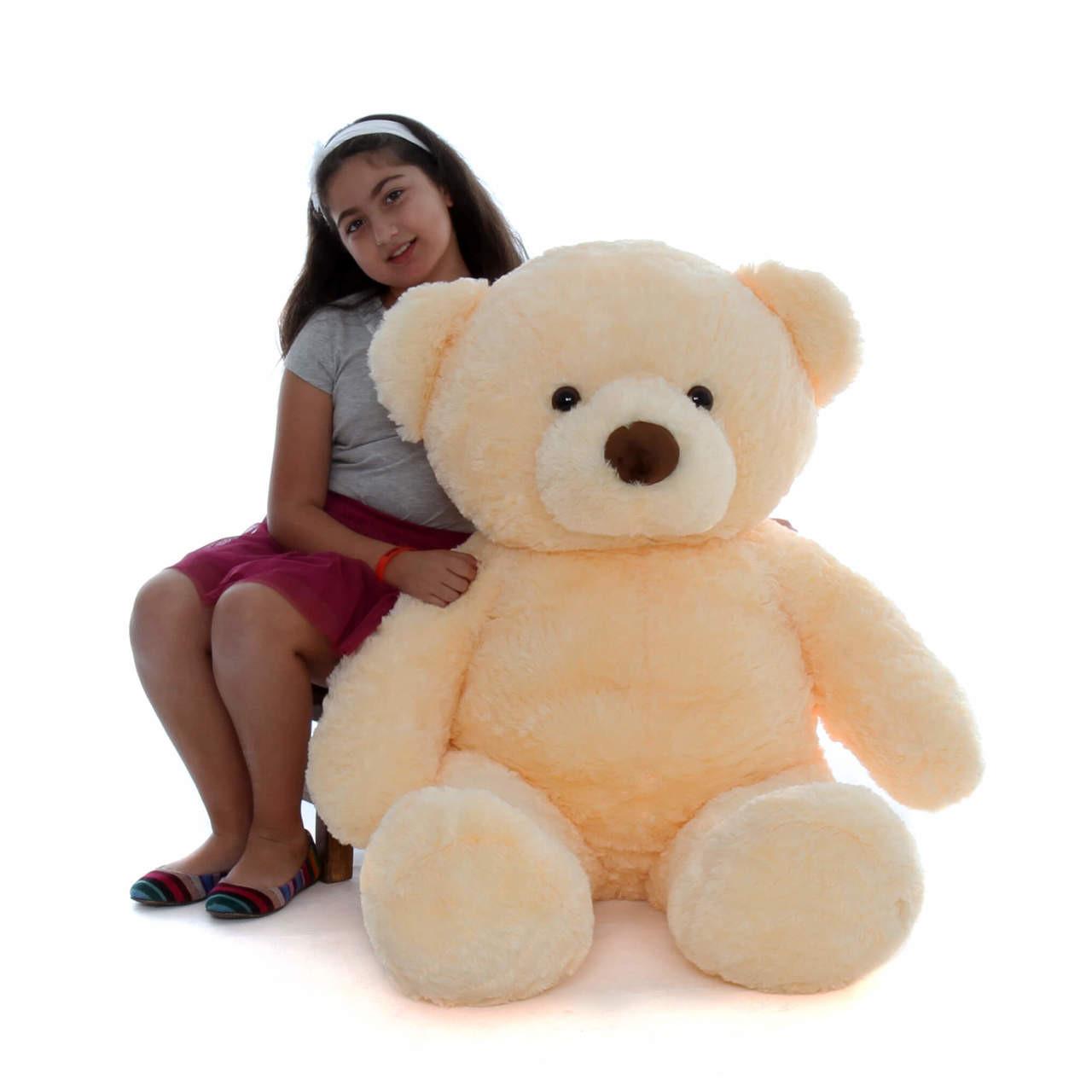 48in Smiley Chubs Giant Vanilla Cream Teddy Bear
