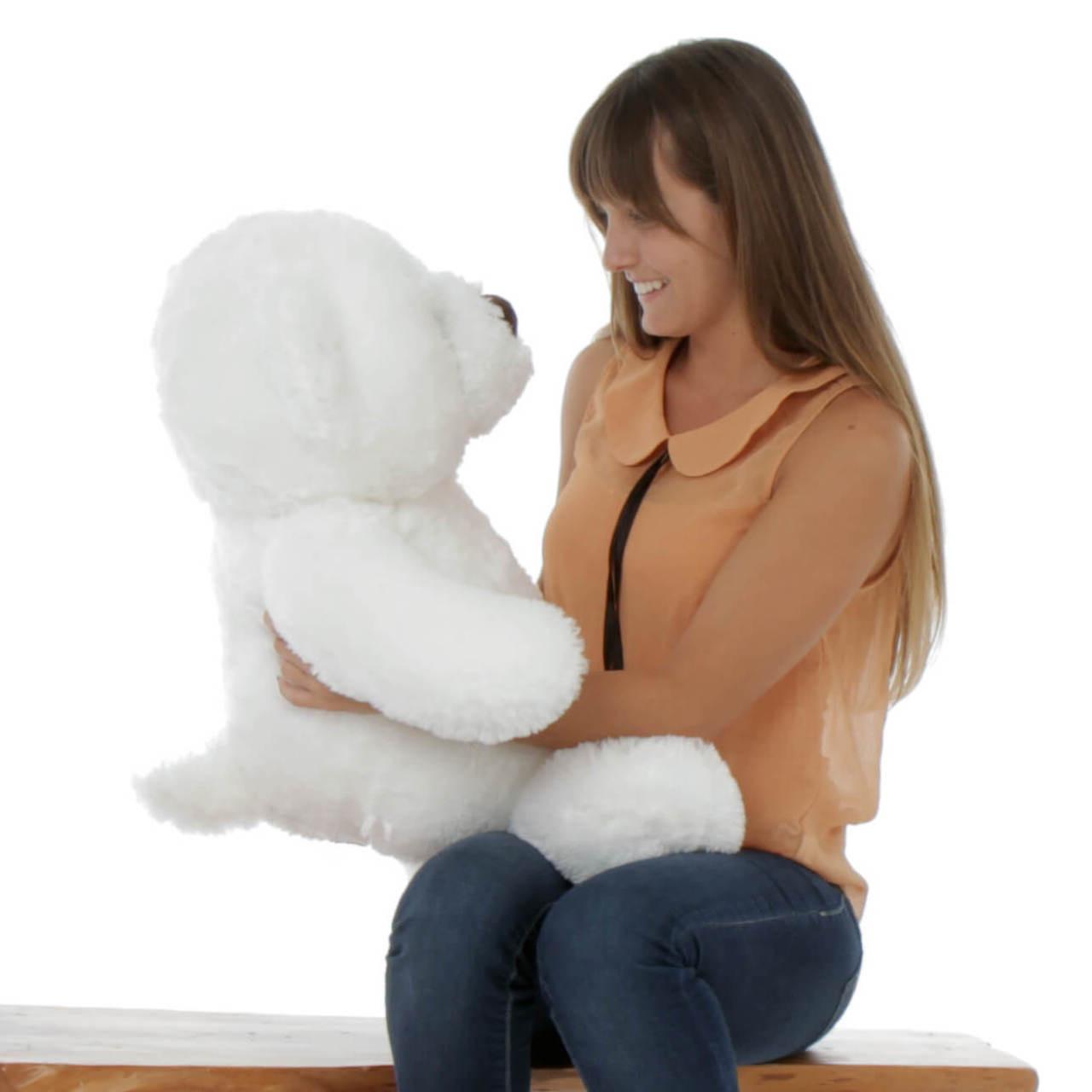 30in Sprinkle Chubs Giant White Teddy Bear
