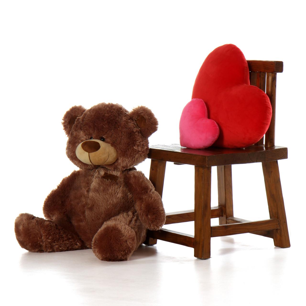 Super Soft Sitting Position Brown Big Teddy Bear with Floppy Head