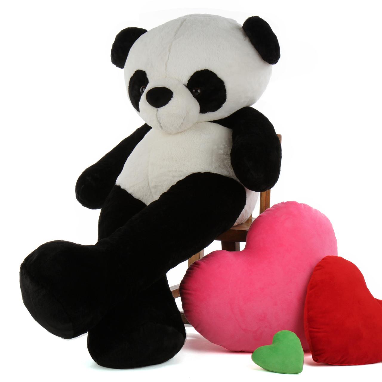 c77437d3283 60in Huge Life Size Panda Teddy Bear Precious Xiong