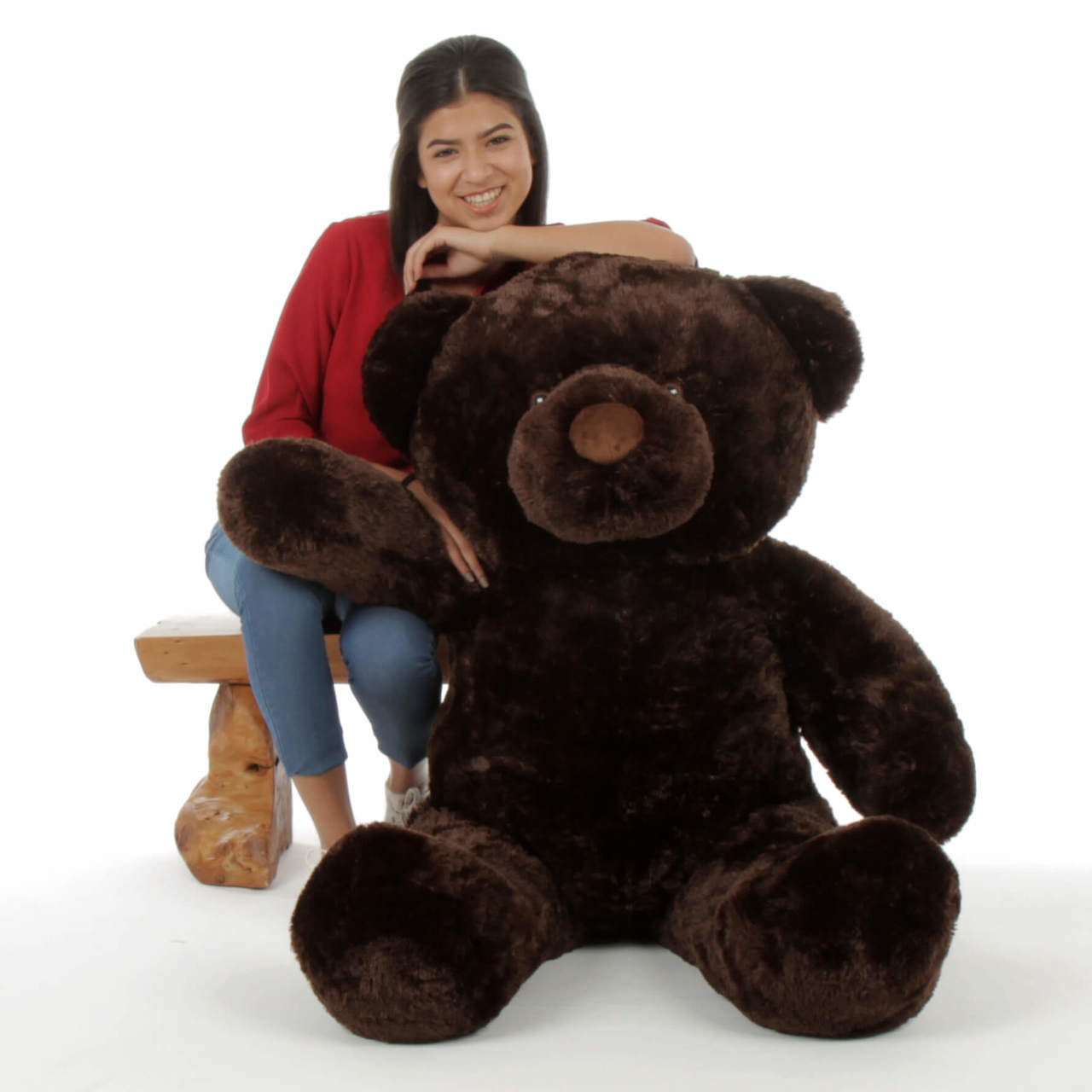 Giant 4ft Teddy Bear Munchkin Chubs dark brown snuggly soft